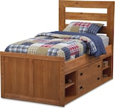 Kids Furniture-Drew Twin Captain's Bed