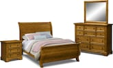 Carlyle Oak 6 Pc. Queen Bedroom