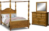 Carlyle Oak Canopy 6 Pc. King Bedroom
