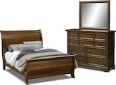 Bedroom Furniture-Hale Rustic 5 Pc. King Bedroom
