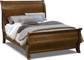 Bedroom Furniture-Hale Rustic Queen Bed