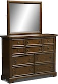 Bedroom Furniture-Hale Rustic Dresser & Mirror