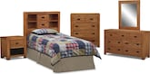 Kids Furniture-The Drew Bookcase II Collection-Drew Bookcase Twin Bookcase Headboard