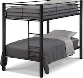 Kids Furniture-Brody Black Twin Bunk Bed