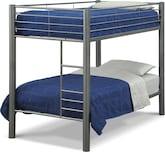 Kids Furniture-The Brody Pewter Collection-Brody Pewter Twin Bunk Bed