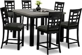 Dining Room Furniture-Wynn II 7 Pc. Counter-Height Dinette