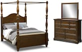Bedroom Furniture-Hale Rustic Canopy 6 Pc. Queen Bedroom