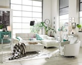 Living Room Furniture-The Bianco Mist Collection-Bianco Mist 2 Pc. Sectional