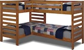 Kids Furniture-Drew II Double Twin Bunk Bed