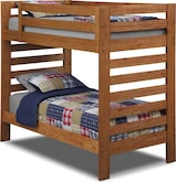 Kids Furniture-Drew II Twin Bunk Bed