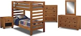 Kids Furniture-The Drew II Collection-Drew II Twin Bunk Bed