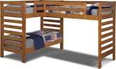 Kids Furniture-Drew III Twin L-Shaped Loft Bed