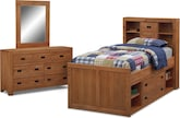 Kids Furniture-Drew Captain 5 Pc. Full Bedroom