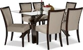 Dining Room Furniture-Vero Karmon Stone 7 Pc. Dinette