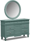 Kids Furniture-Mayflower Blue Dresser & Mirror