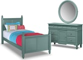 Kids Furniture-Seaside Blue 5 Pc. Full Bedroom