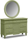 Kids Furniture-Seaside Green Dresser & Mirror