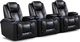 Living Room Furniture-Frisco II 3 Pc. Power Reclining Home Theater Sectional