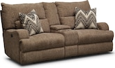Living Room Furniture-Navarro Power Reclining Loveseat with Console