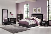 Bedroom Furniture-Prima II Black 7 Pc. Queen Bedroom (Alternate)
