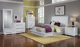 Bedroom Furniture-Prima White 7 Pc. King Bedroom (Alternate)