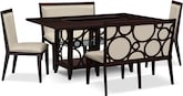 Dining Room Furniture-Brighton Parchment 5 Pc. Dinette (Alternate)