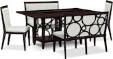 Dining Room Furniture-Brighton Pearl 5 Pc. Dinette (Alternate)