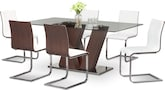 Dining Room Furniture-Hartley Merlot 7 Pc. Dining Room
