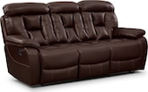 Living Room Furniture-Wichita Java Reclining Sofa