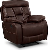 Living Room Furniture-Wichita Java Glider Recliner