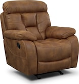 Living Room Furniture-Wichita Almond Glider Recliner
