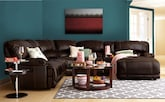 Living Room Furniture-The Clinton Brown Collection-Clinton Brown 6 Pc. Power Reclining Sectional