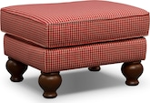 Living Room Furniture-Caroline Red Ottoman
