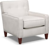 Living Room Furniture-Hudson Gray Accent Chair