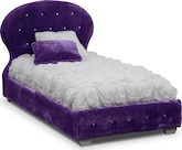 Kids Furniture-Mariah Purple Twin Bed