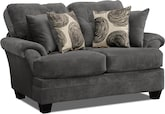 Living Room Furniture-Catalina Gray Loveseat