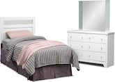 Kids Furniture-Anya 3 Pc. Bedroom w/ Twin Headboard