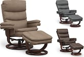 Living Room Furniture-The Sagan Collection-Sagan Reclining Chair and Ottoman