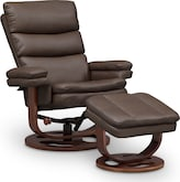 Living Room Furniture-Sagan Reclining Chair and Ottoman