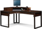 Home Office Furniture-Henry L-Shaped Desk with Hutch