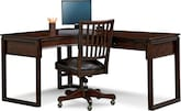 Home Office Furniture-Henry L-Shaped Desk and Chair