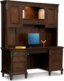 Home Office Furniture-Livingston Credenza Desk with Hutch