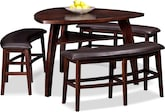 Dining Room Furniture-Lucas 4 Pc. Counter-Height Dinette (Alternate)