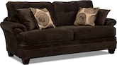 Living Room Furniture-Catalina Chocolate Sofa