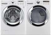 Washers and Dryers - LG Appliances Collection<br>Model DLEX3250W/WM3055CW