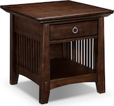 Accent and Occasional Furniture-Wentworth Dark End Table