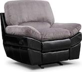 Living Room Furniture-Piedmont Gray Glider Recliner