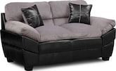 Living Room Furniture-Piedmont Gray Loveseat