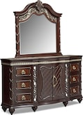 Bedroom Furniture-Rousseau Dresser & Mirror