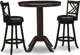 Dining Room Furniture-Welch Reilly 3 Pc. Bar-Height Dinette